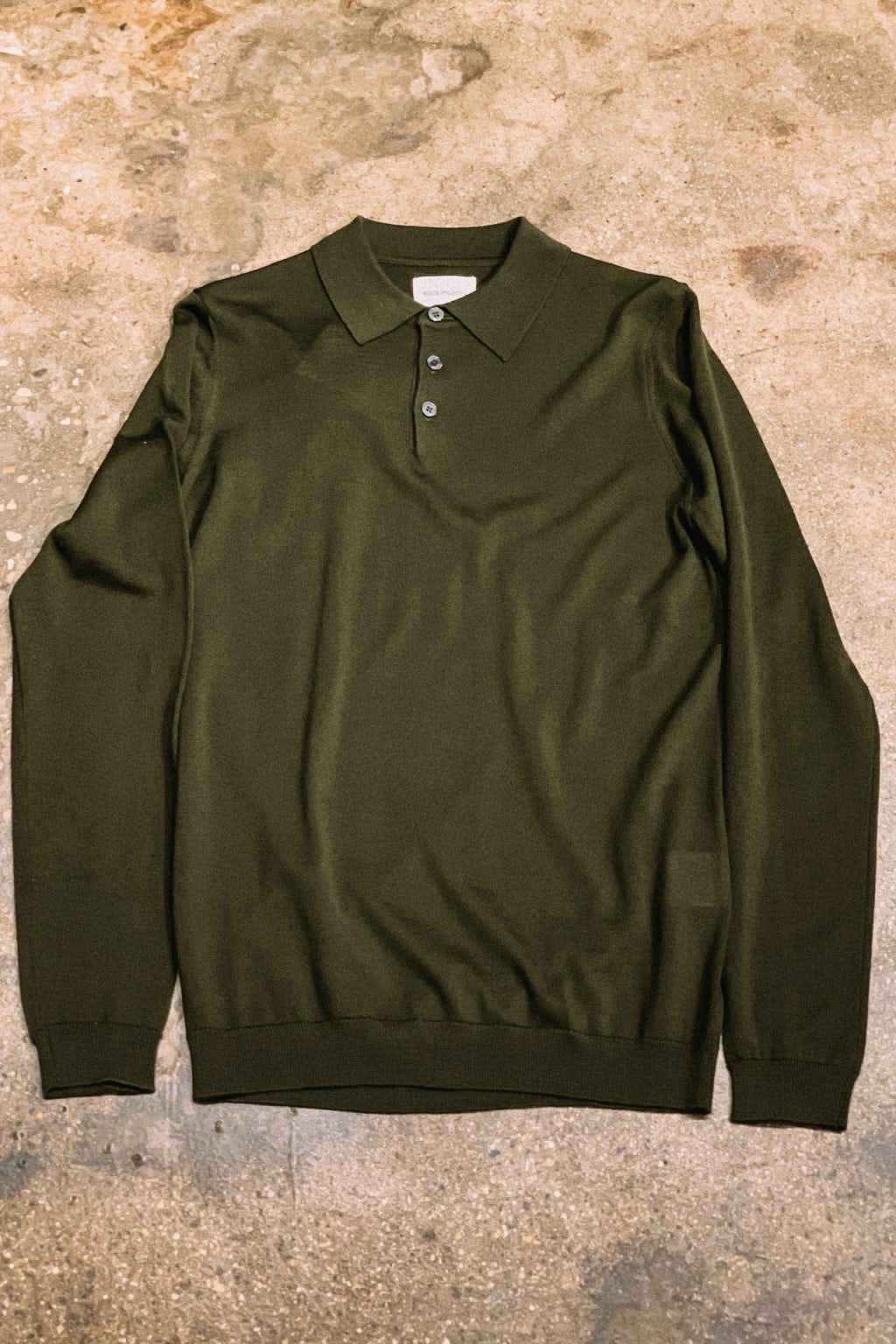 Norse Projects Merino Polo Beech Green