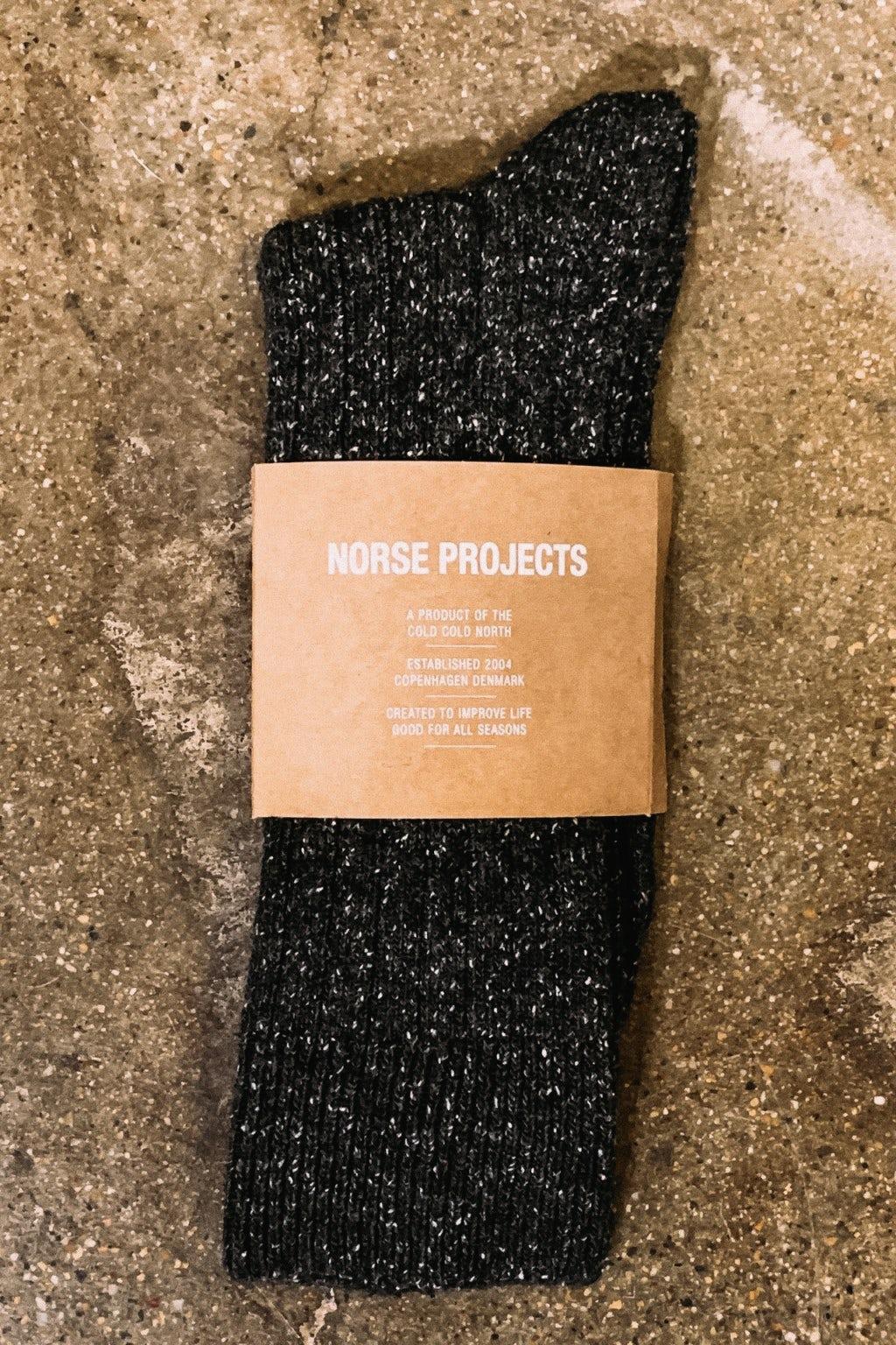 Norse Projects Sock Bjarki Nep Charcoal Melange
