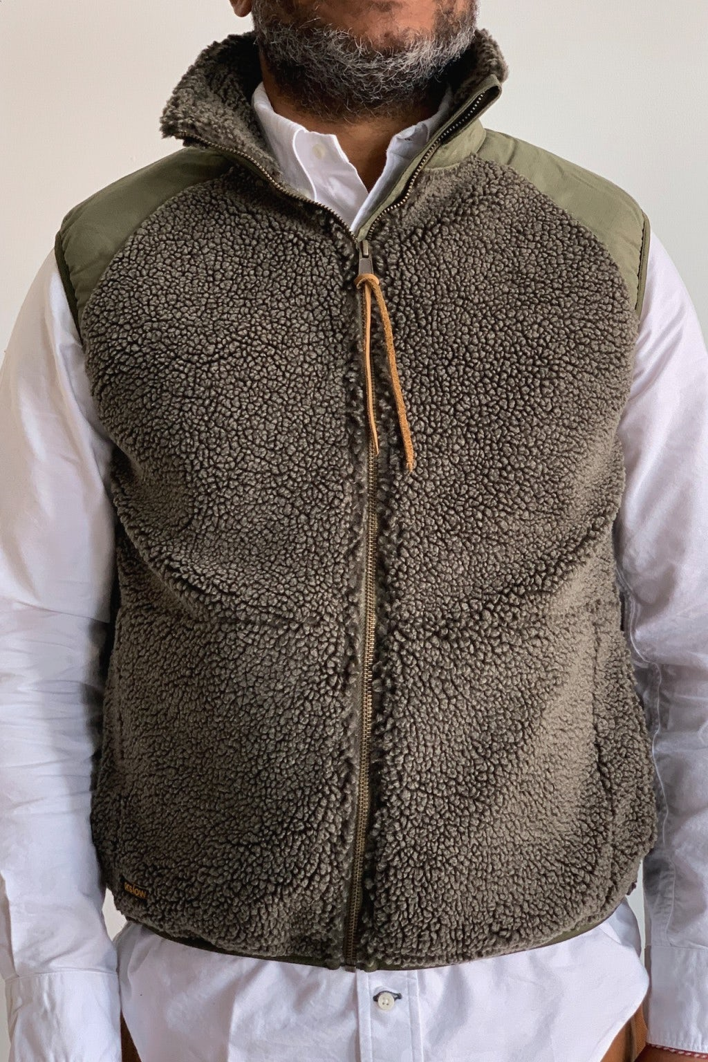 Orslow Fleece Vest Army Green