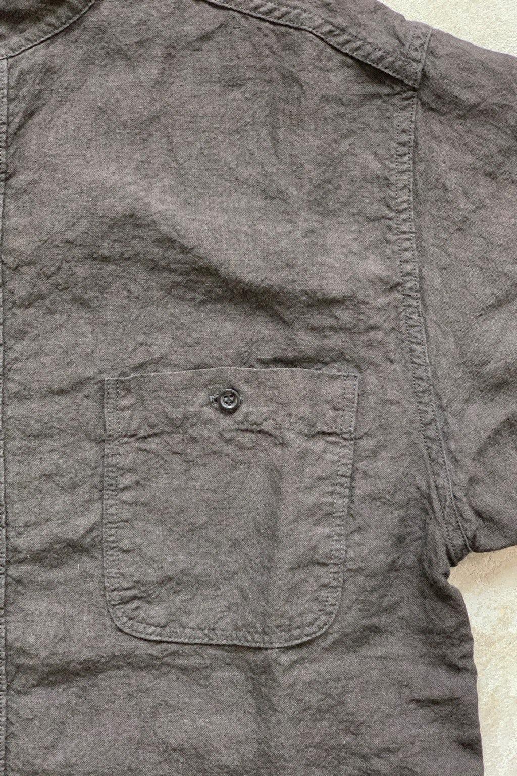 Orslow Standard Collar Short Sleeve Shirt Black