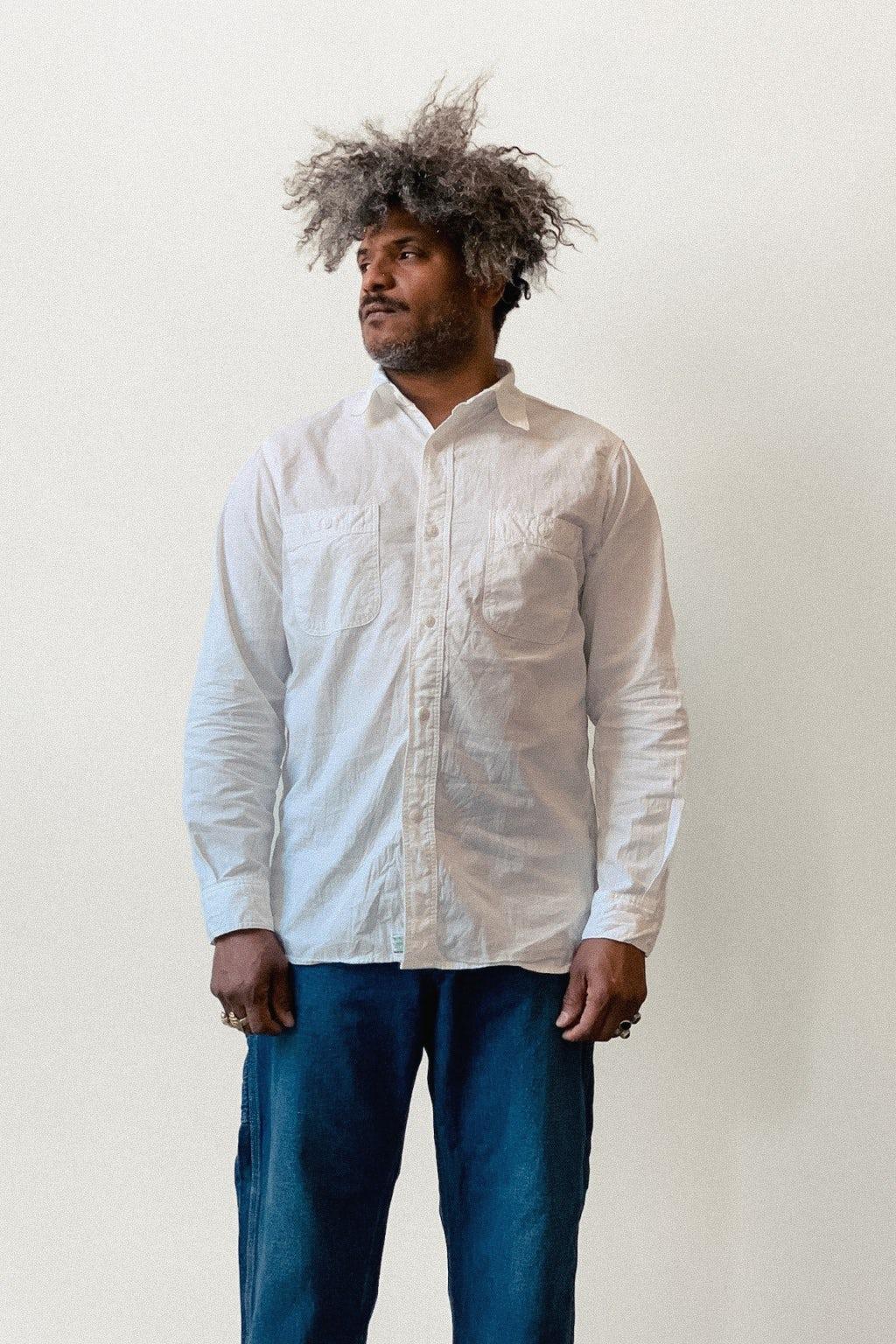 Orslow Work Shirt White