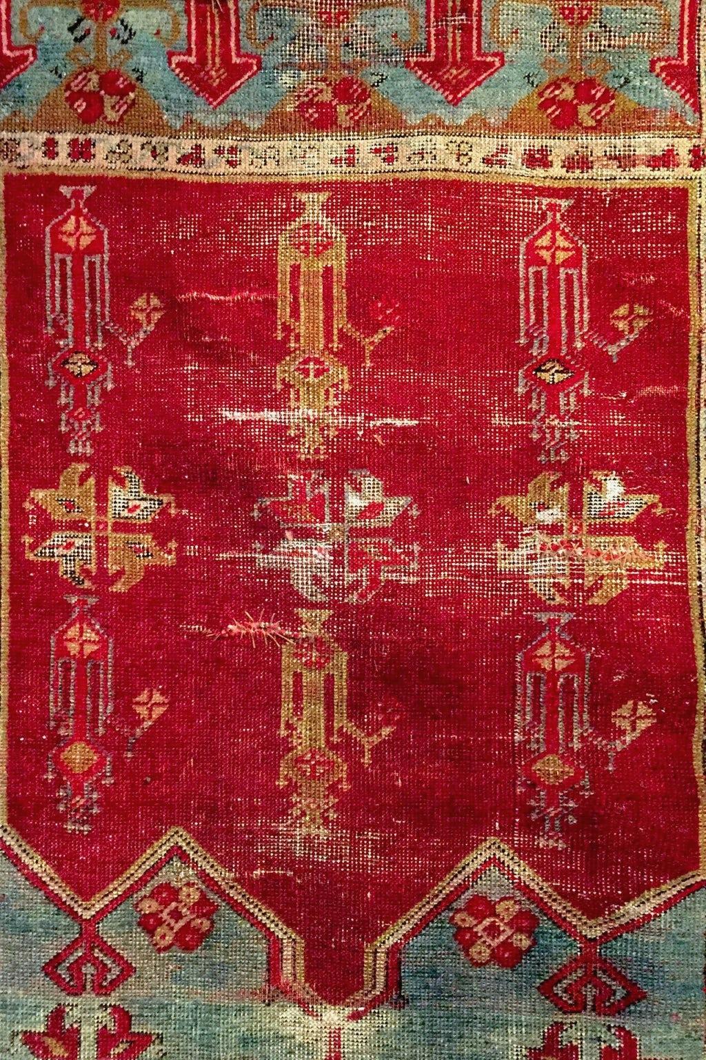 Independence Vintage Goods 19th Century Anatolian Prayer Rug Vintage