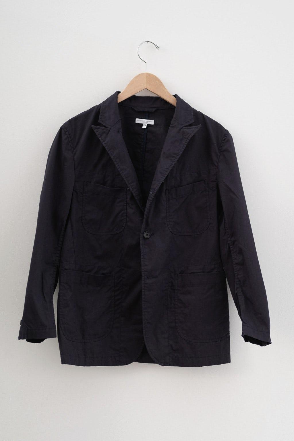 Engineered Garments Bedford Jacket Navy 6.5oz Flat Twill