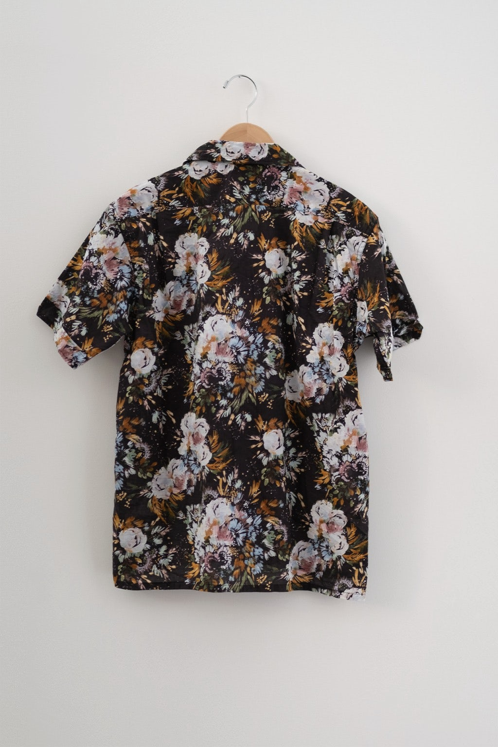 Engineered Garments Camp Shirt Dark Navy Botany Printed Lawn
