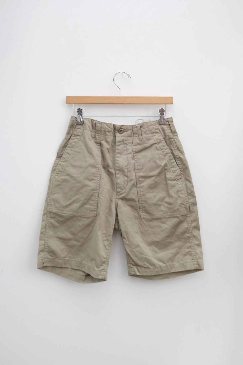 Engineered Garments Fatigue Short Khaki 6.5oz Flat Twill