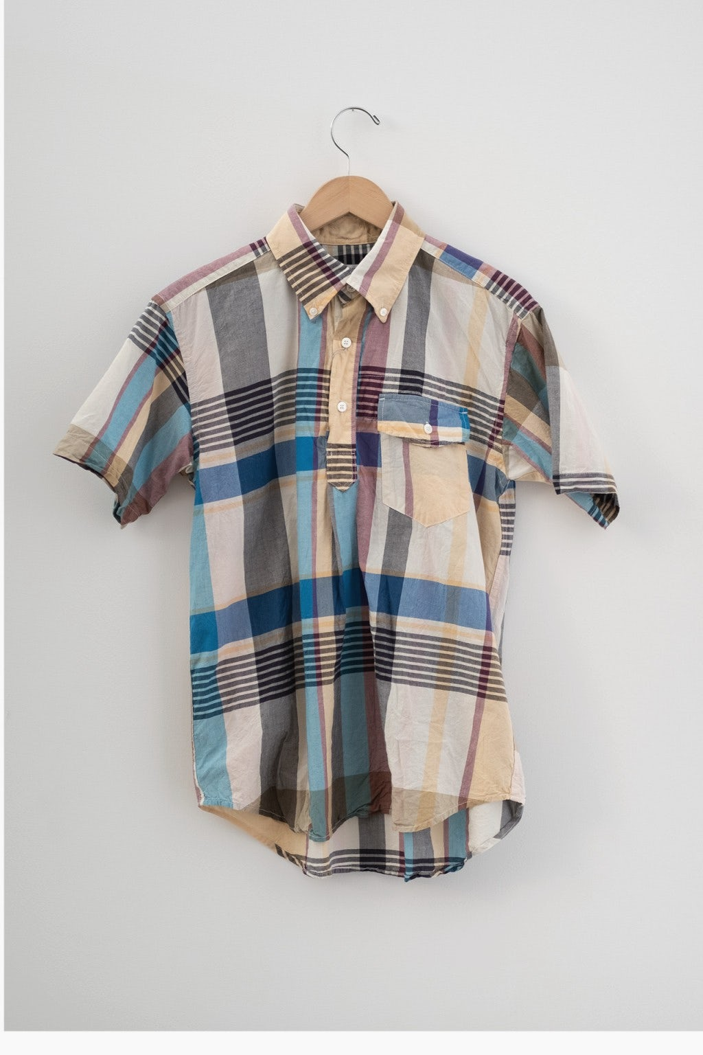 Engineered Garments Popover BD Shirt Khaki Big Madras Plaid