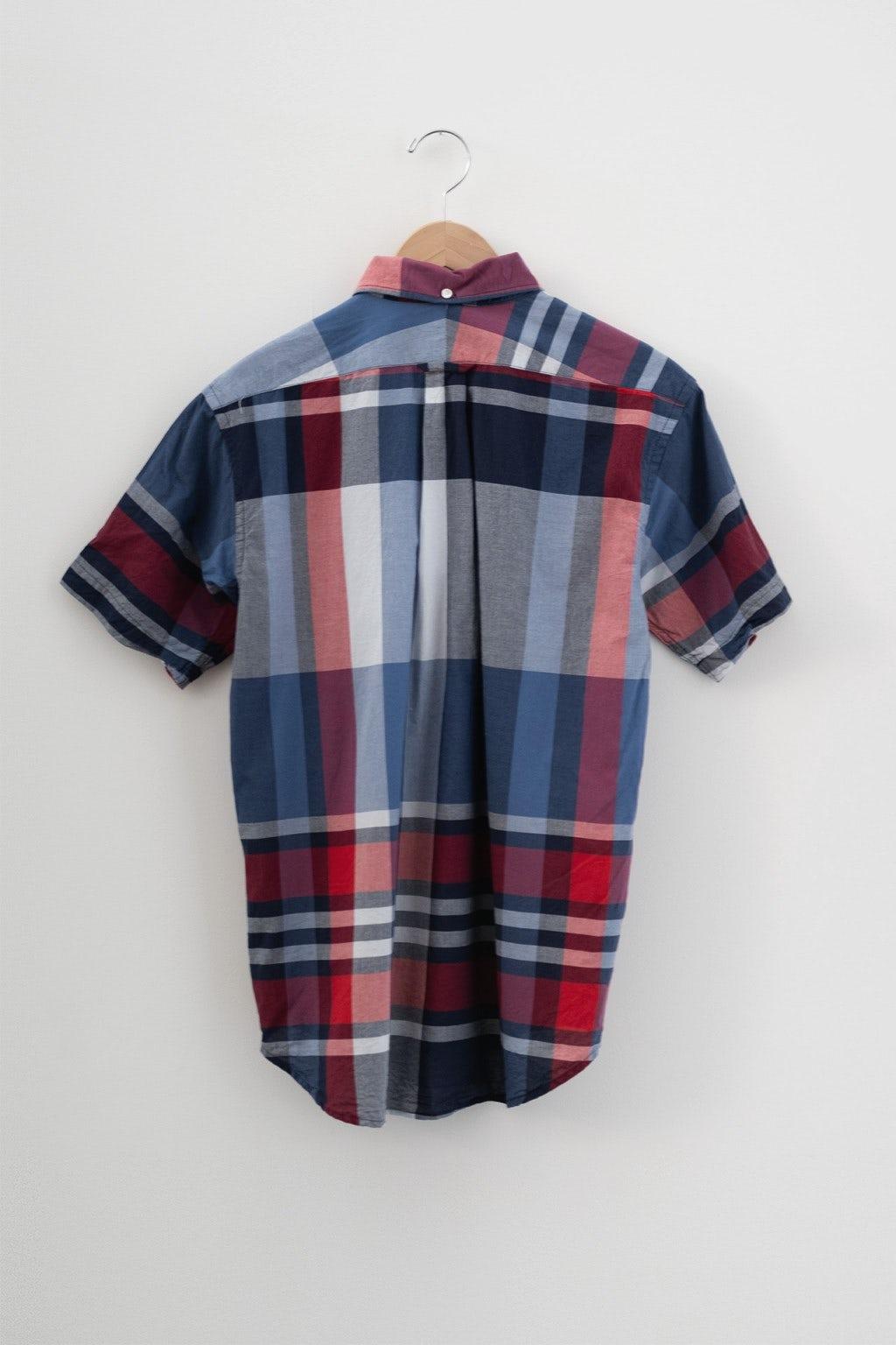 Engineered Garments Popover BD Shirt Navy/Red Big Madras Plaid