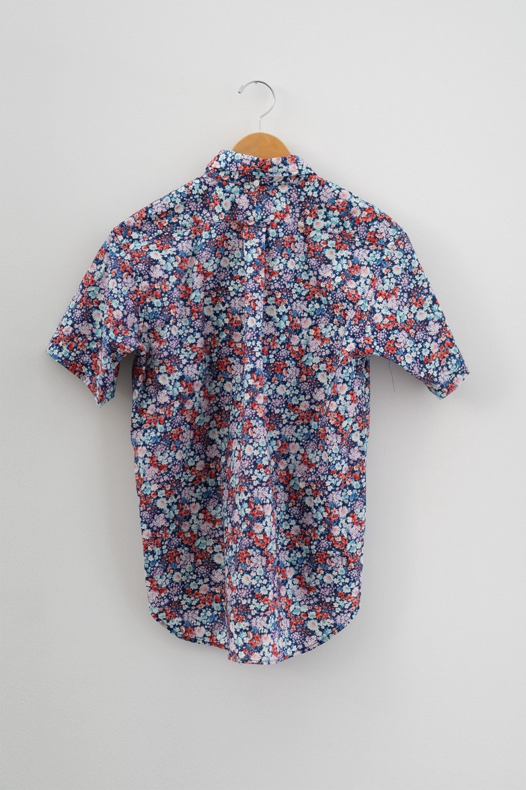 Engineered Garments Popover BD Shirt Navy/Red/Light Blue Floral