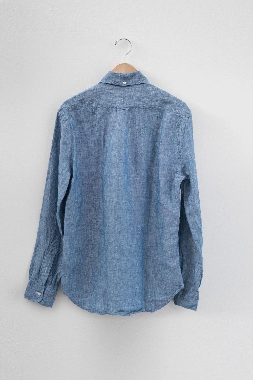 Gitman Bros. Vintage Button Down Blue Chambray Linen