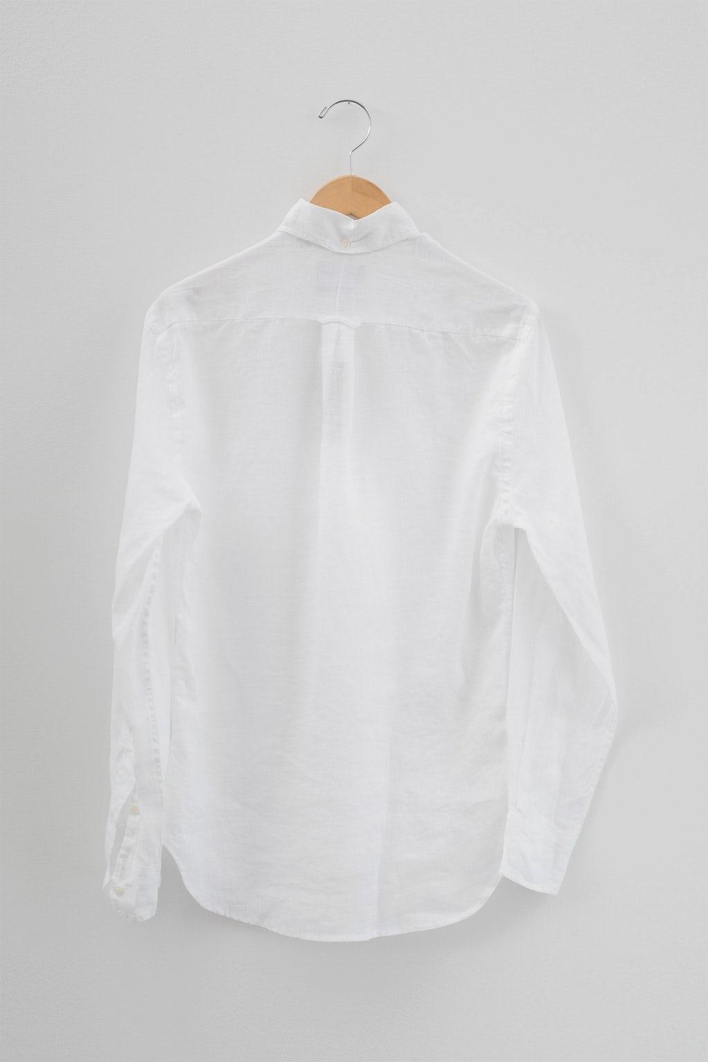 Gitman Bros. Vintage Button Down White Linen