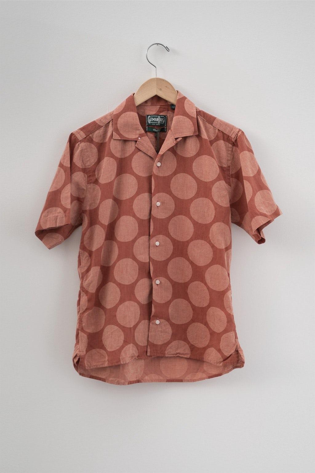 Gitman Bros. Vintage Camp Shirt Brick Dot