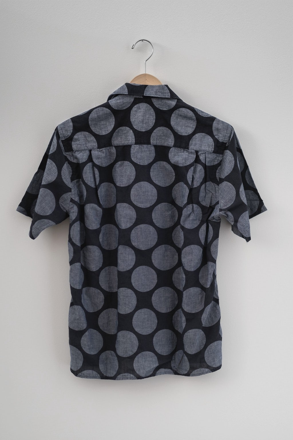 Gitman Bros. Vintage Camp Shirt Navy Dot