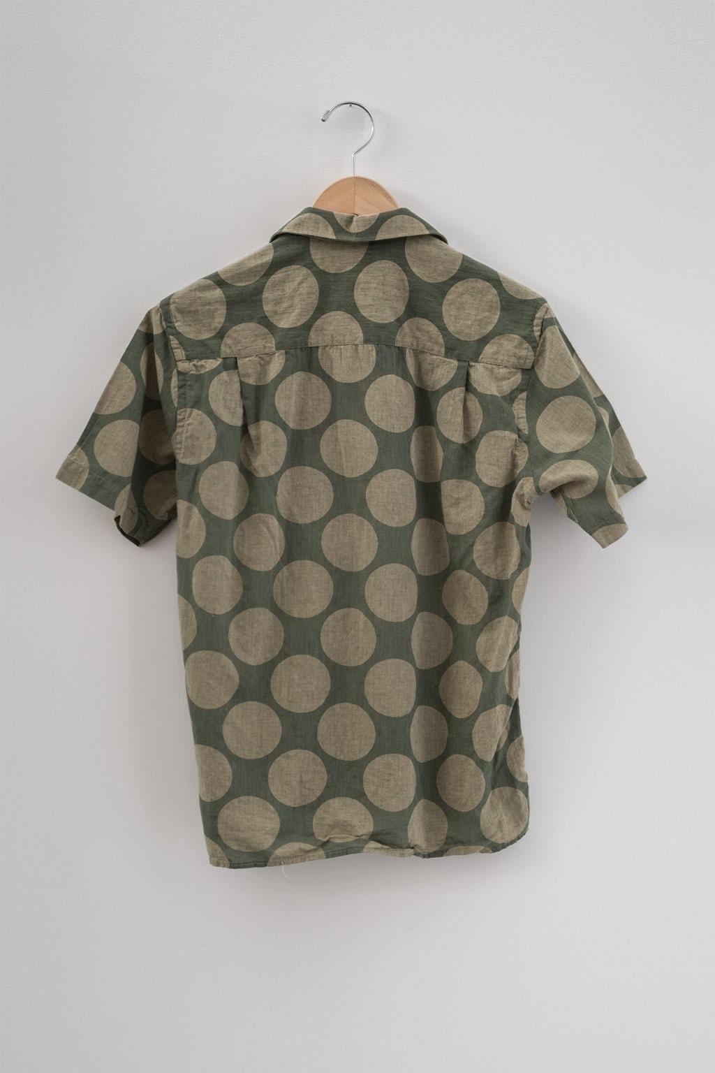 Gitman Bros. Vintage Camp Shirt Olive Dot