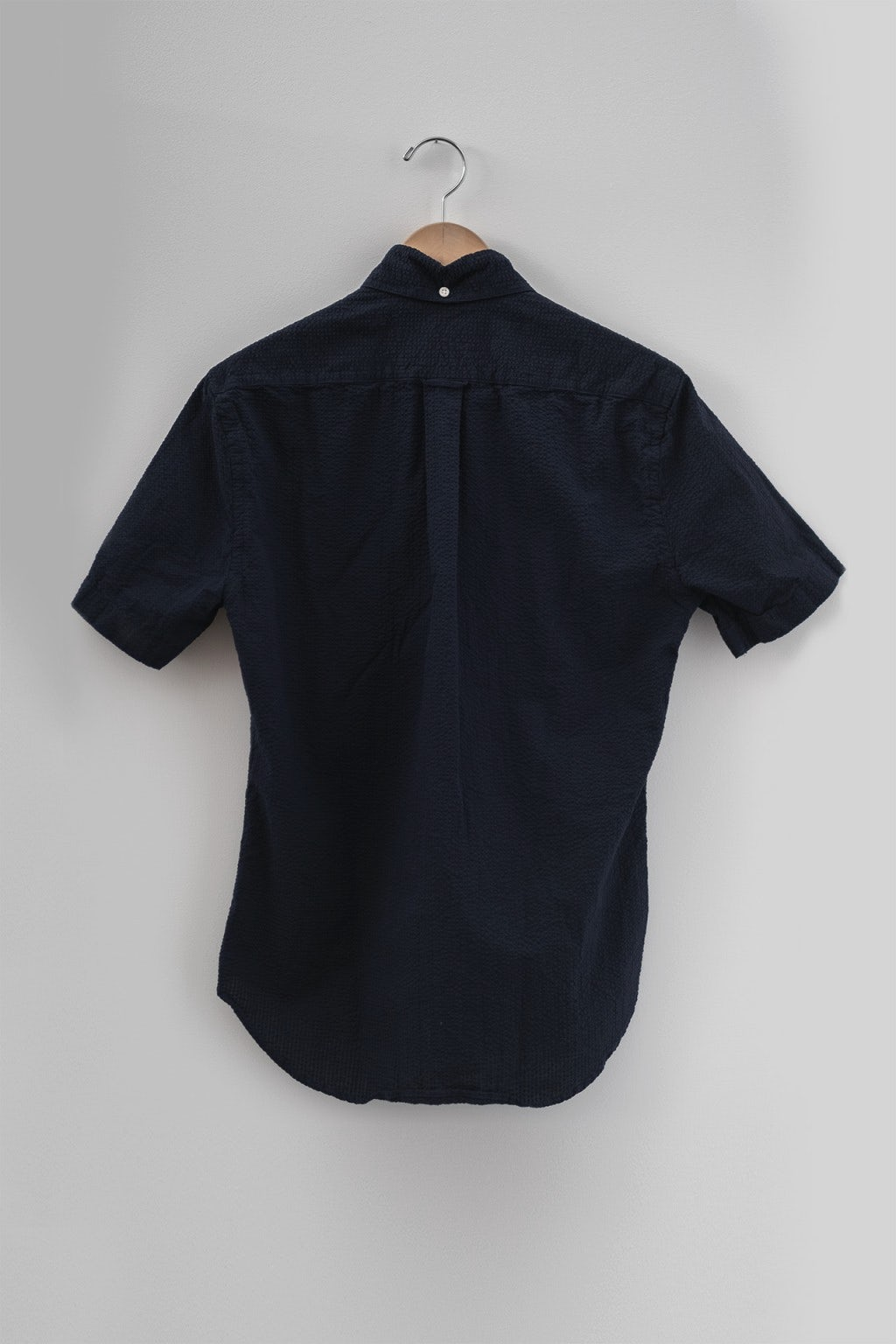 Gitman Bros. Vintage Short Sleeve Navy Seersucker