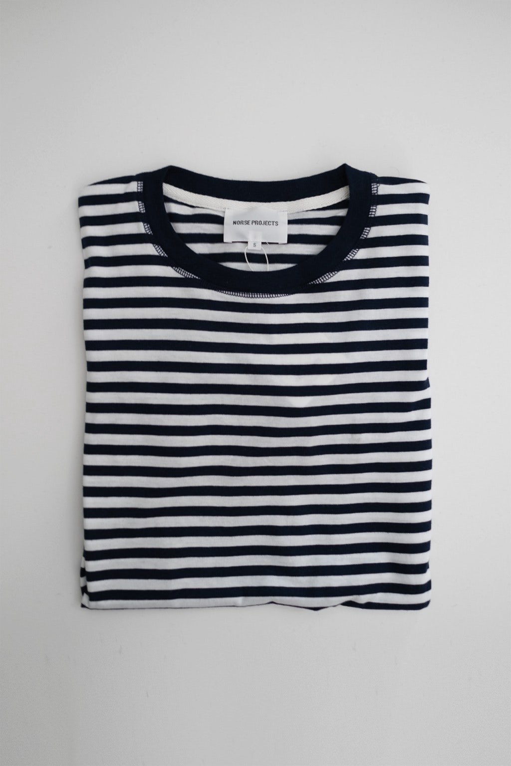 Norse Projects Niels Classic Stripe Dark Navy / White