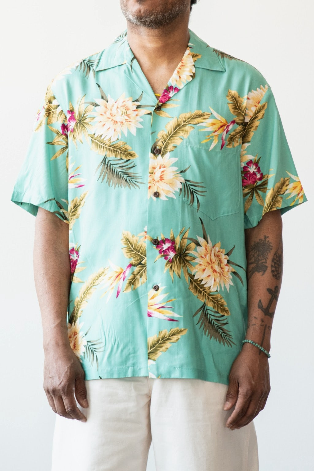 Two Palms Ceres Green Shirt Green