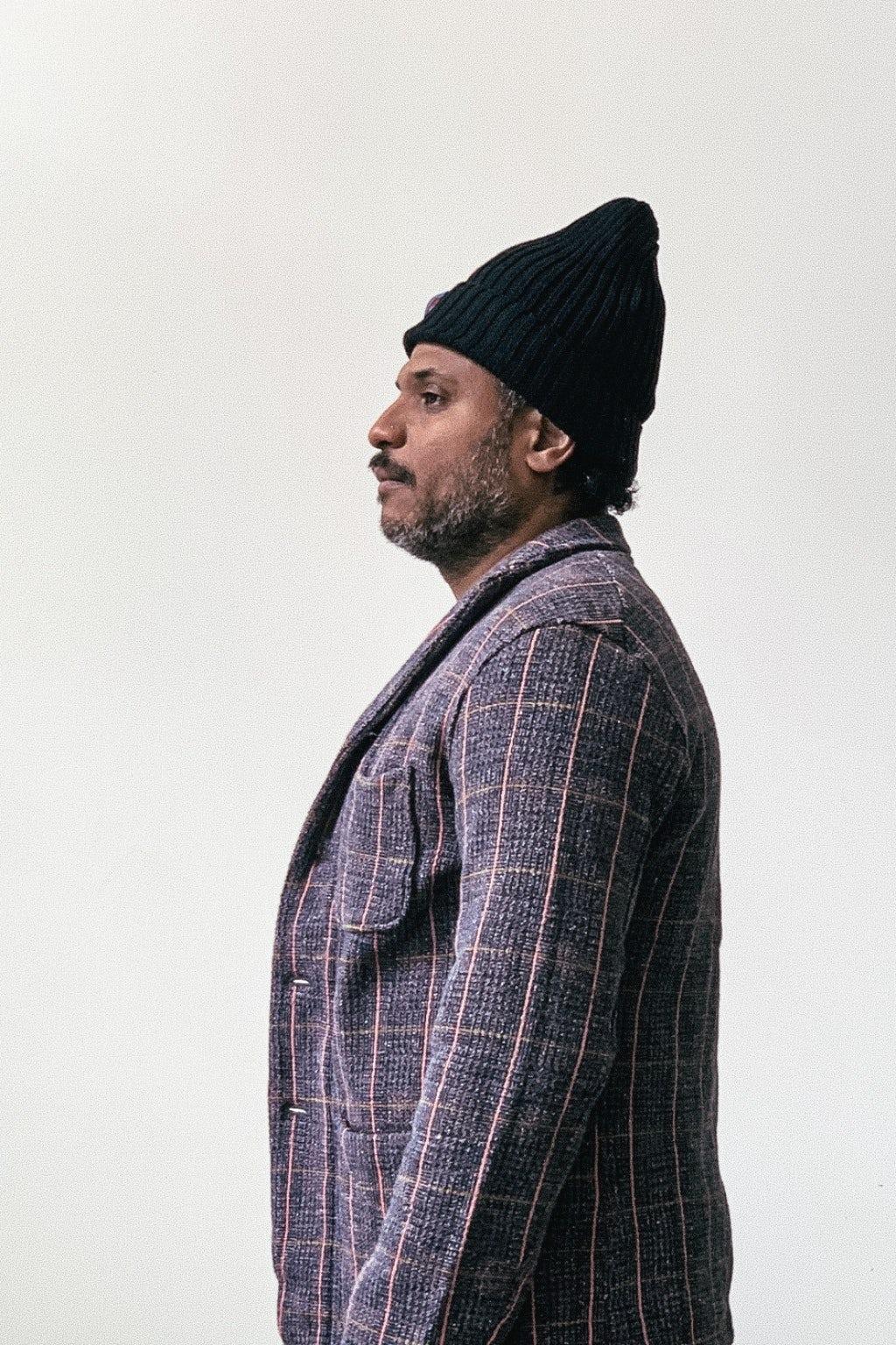 Kapital Tweed Fleecy Knit KOBE Jacket Grey & Pink