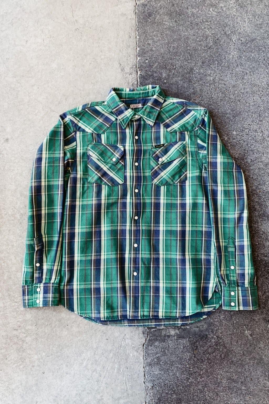 Kapital Flannel Check Western Shirt Green