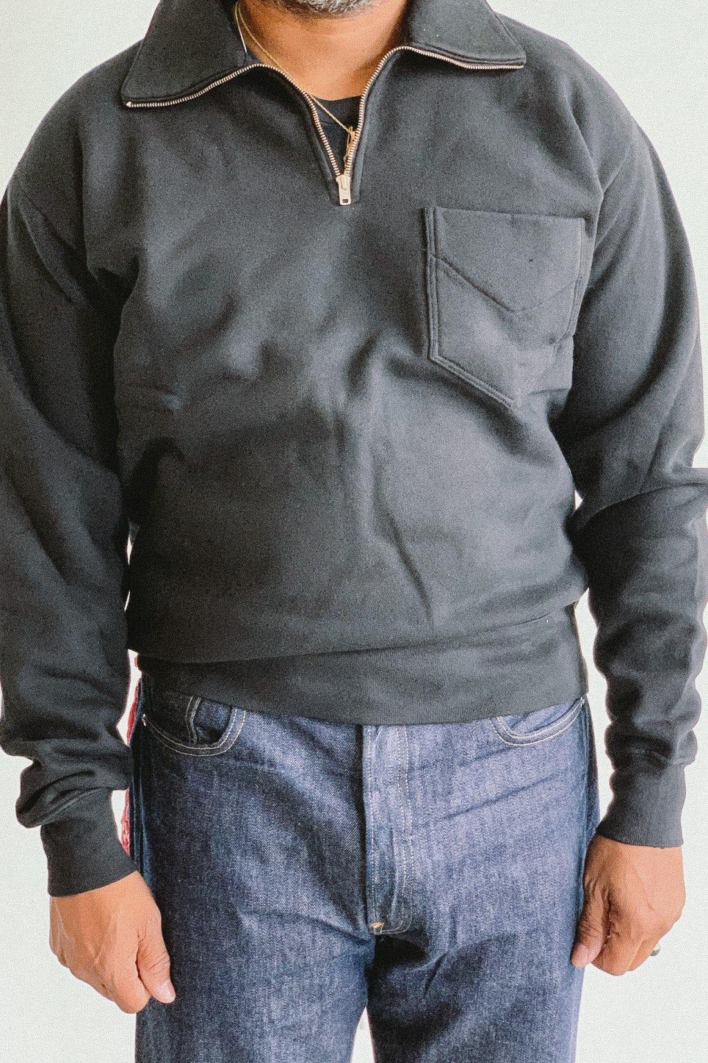 Lady White Co. Quarter Zip Sweatshirt Black