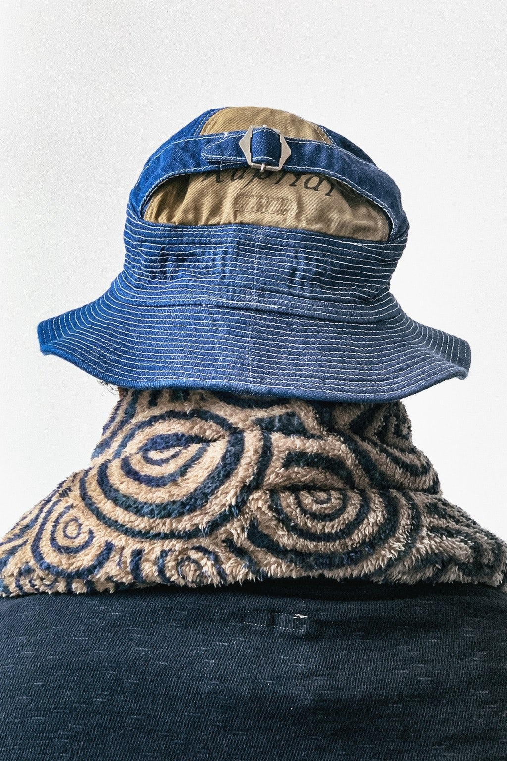 Kapital 12oz Denim THE OLD MAN AND THE SEA Hat Midtone