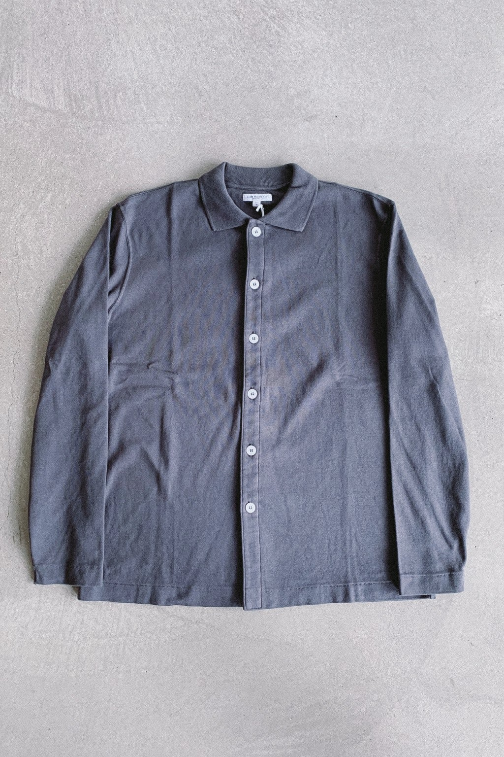 Lady White Co. L/S Placket Polo Faded Black