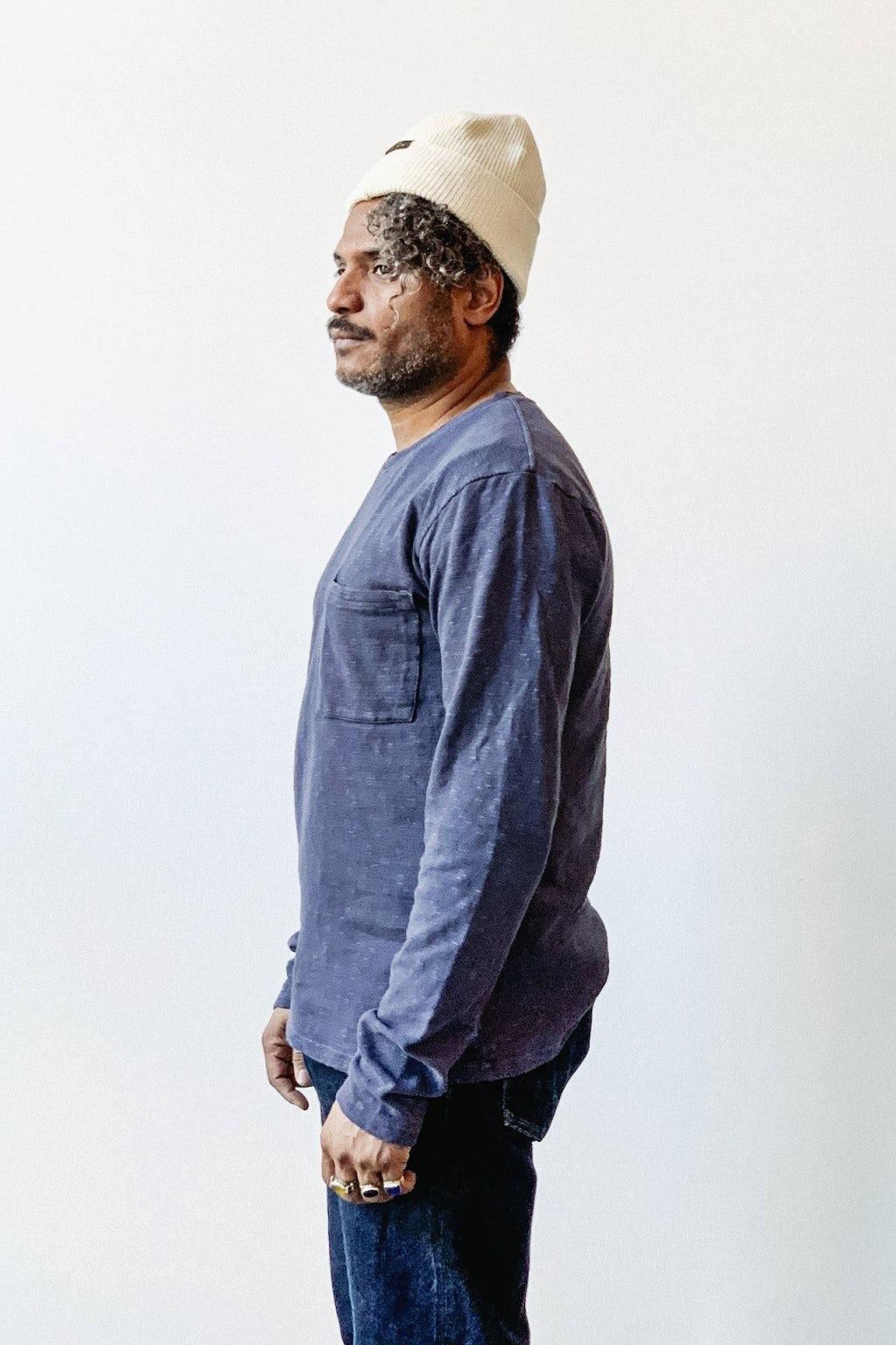 Kapital AMUSE Knit Pocket Long Sleeve t  Navy