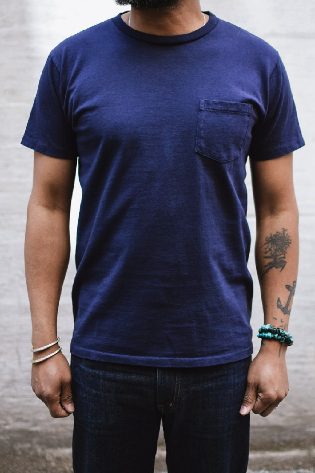 Velva Sheen Two Pack Pocket T-Shirts Navy