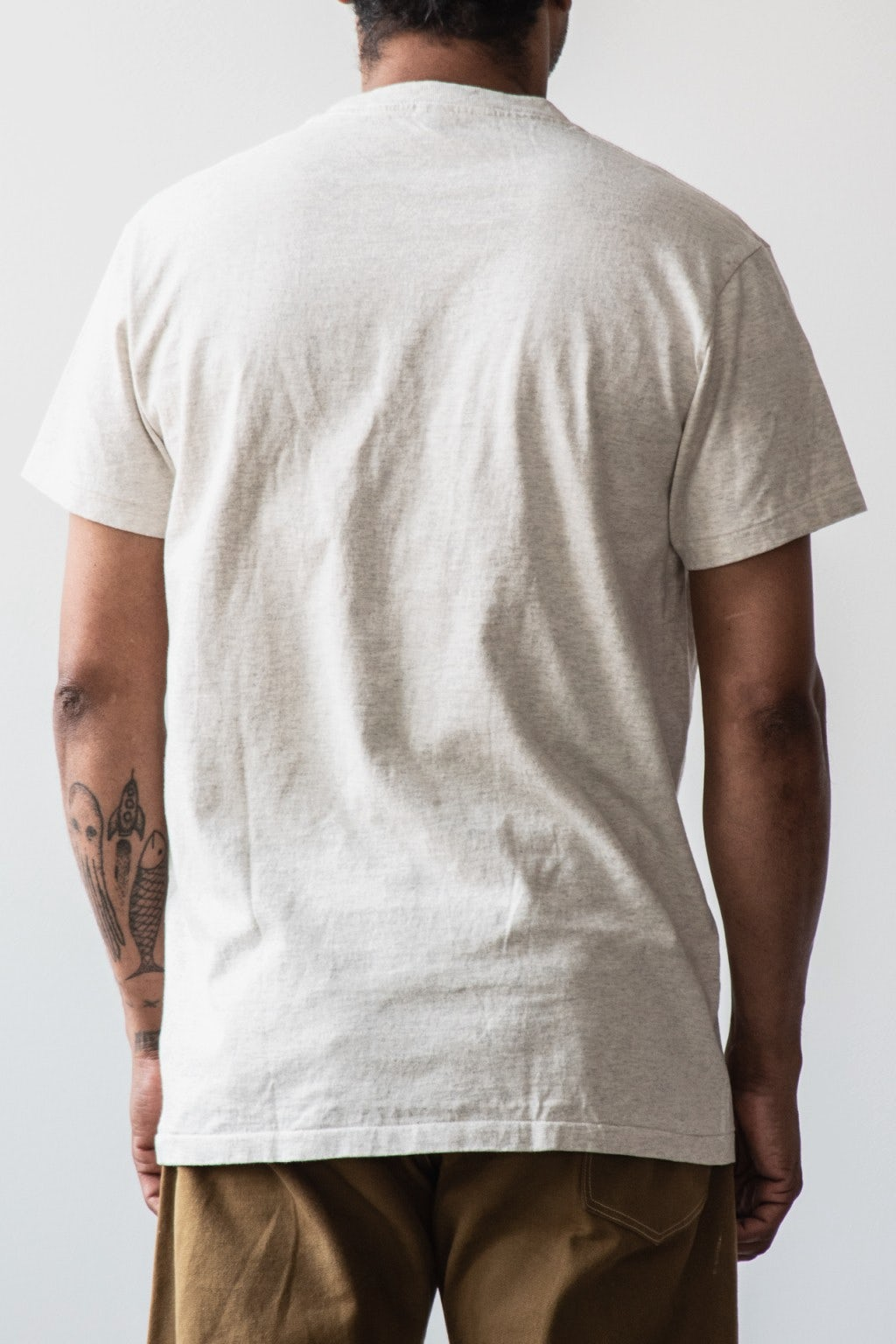 Velva Sheen Two Pack Pocket T-Shirts Oatmeal