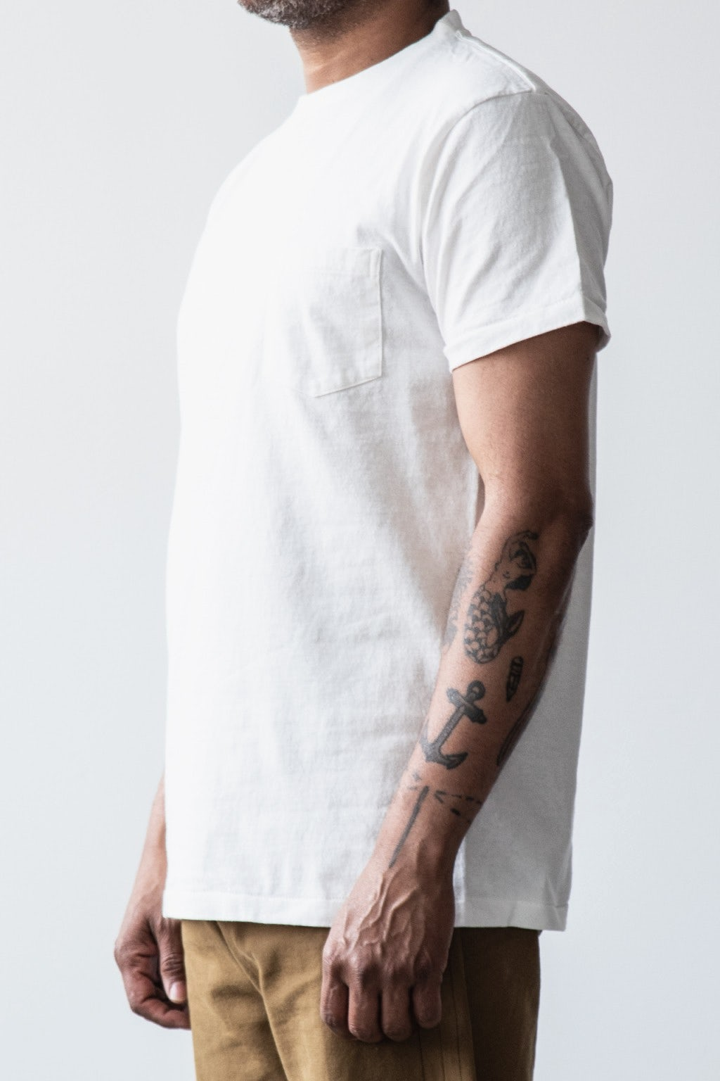Velva Sheen Two Pack Pocket T-Shirts White & Heather Grey