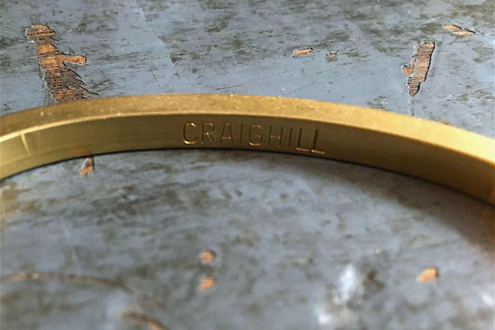 Craighill Uniform Square Cuff Brass