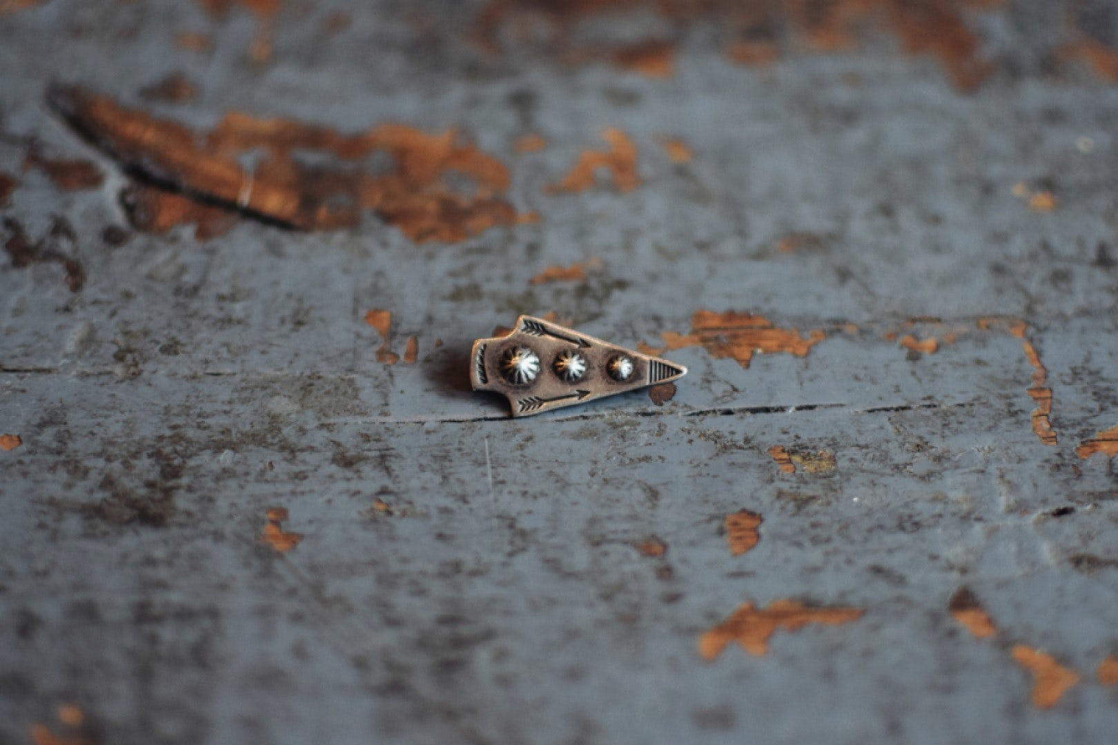 Independence Vintage Goods Arrowhead Pin Sterling Silver
