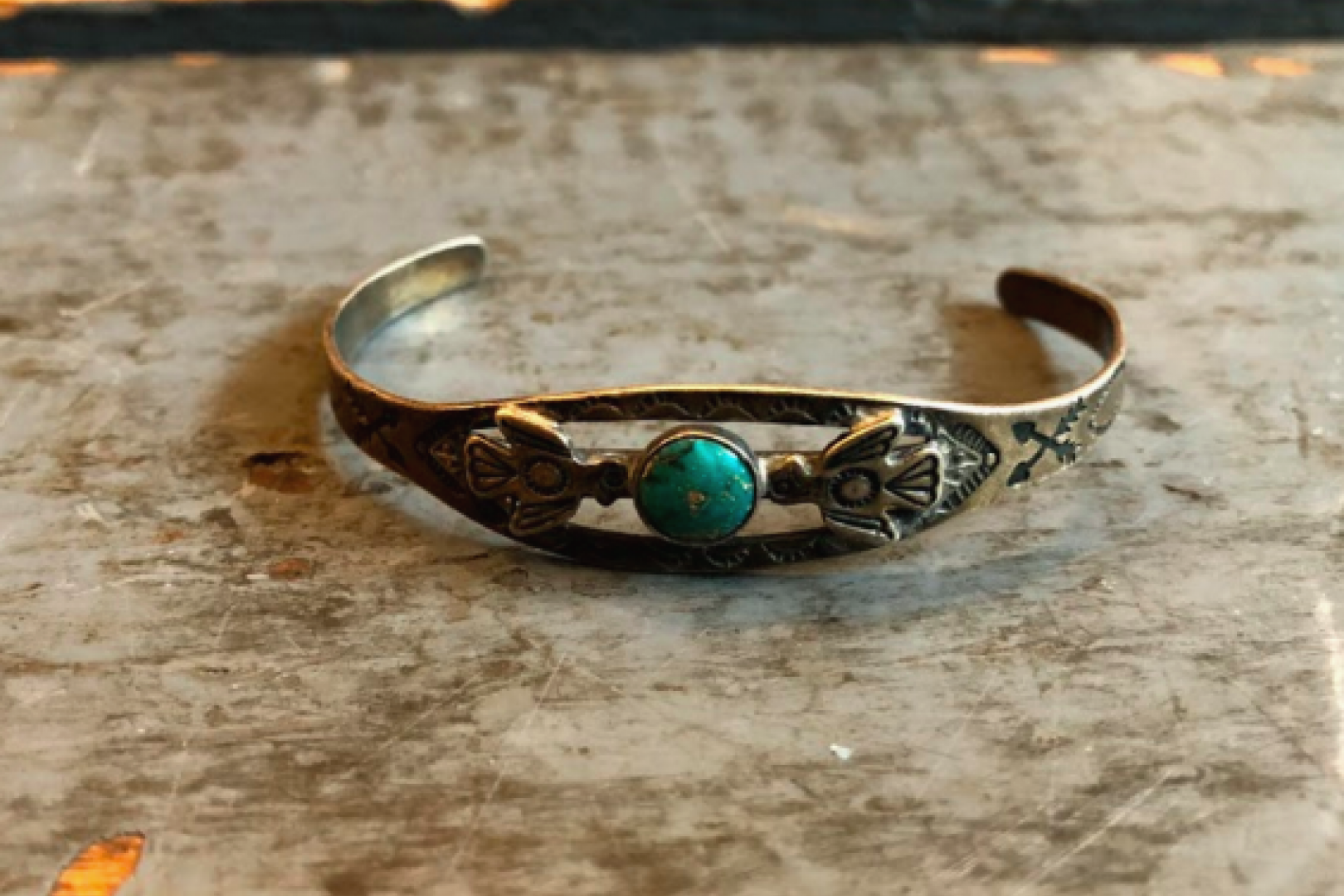 Independence Vintage Goods Thunderbird Small Cuff Sterling Silver & Turquoise