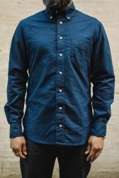 Gitman Bros. Vintage Oxford Shirt Navy Overdye