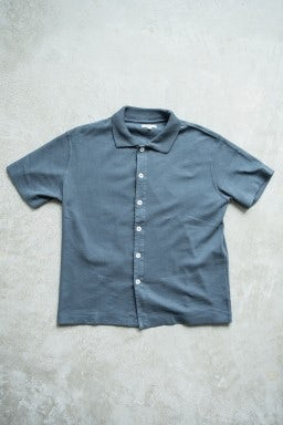 Lady White Co. S/S Placket Polo Night Grey