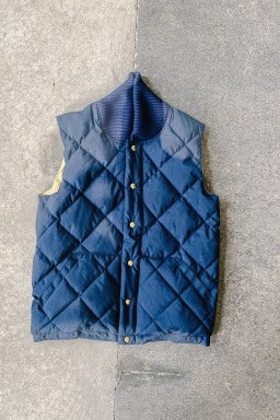 Crescent Down Works Italian Vest Navy/Khaki