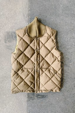 Crescent Down Works Italian Vest Tan/Khaki