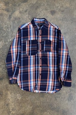 Engineered Garments Work Shirt Navy/Orange