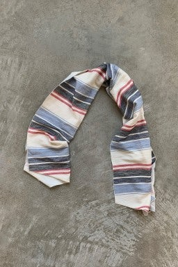 Engineered Garments Long Scarf Red Blue Slab