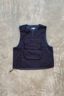 Engineered Garments Cover Vest Dark Navy Highcount Twill