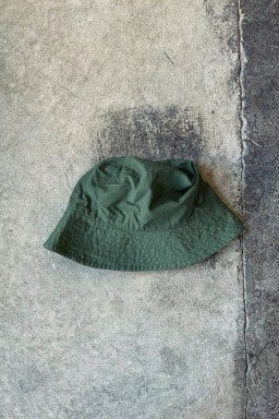 Engineered Garments Bucket Hat Olive Cotton Ripstop