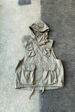 Engineered Garments Field Vest Khaki High Count Twill