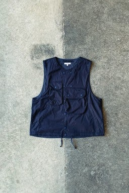 Engineered Garments Cover Vest  Dark Navy High Count Twill