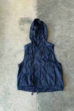 Engineered Garments Field Vest  Dark Navy Nylon Micro Ripstop