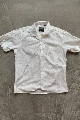 Gitman Bros. Vintage Camp Shirt White Seersucker
