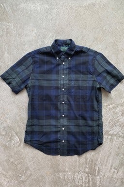 Gitman Bros. Vintage Short Sleeve Button Down  Blackwatch