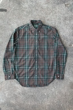 Gitman Bros. Vintage Button Down Shirt Green Beefy Poplin