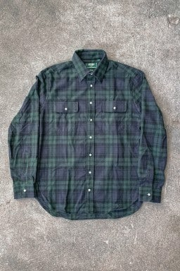 Gitman Bros. Vintage Two Pocket Flannel Shaggy Brushed Blackwatch