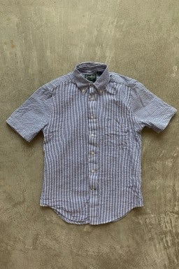 Gitman Bros. Vintage Short Sleeve Shirt  Blue/White Stripe Seersucker
