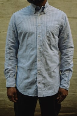 Gitman Bros. Vintage Oxford Shirt Blue Stripe