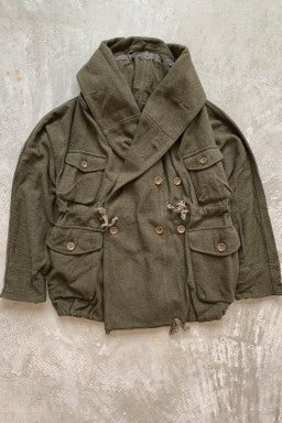 Kapital Vintage Melton Wool RIng Coat Olive